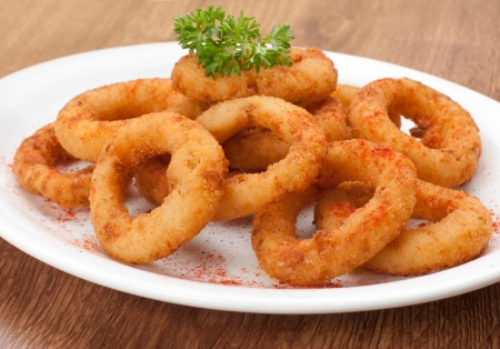 fried onion rings snack