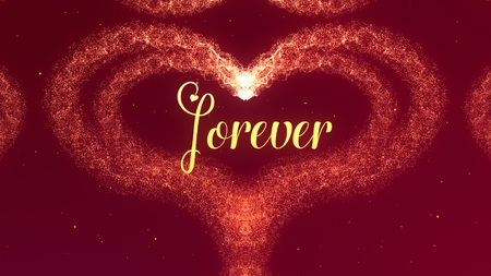 Photo pour Valentines Day heart made of red wine splash isolated on red background. Forever together Share love. - image libre de droit