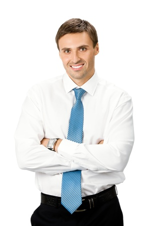 Photo for Portrait of happy smiling business man, isolated on white background - Royalty Free Image