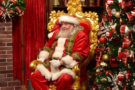 Orlando, Florida; November 24, 2018. Sweet Santa Claus smiles with his look in International Drive area.