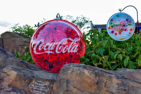 Orlando, Florida . February 26, 2019. Coloful Coca Cola signs at Seaworld Theme Park.