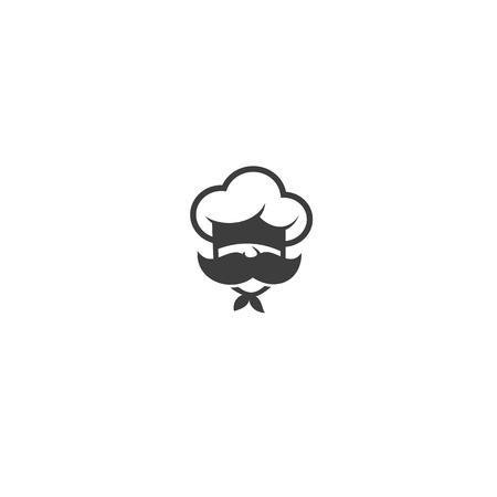 Illustration pour chef with mustache and hat on white background vector illustration design. - image libre de droit