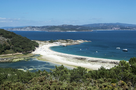 Beach of the Cies Islands from the viewpoint