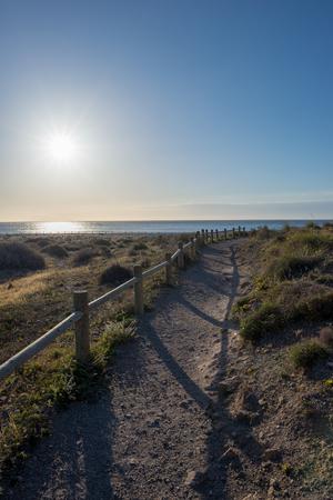 Access to the Genoveses beach in Cabo de Gata, Spain