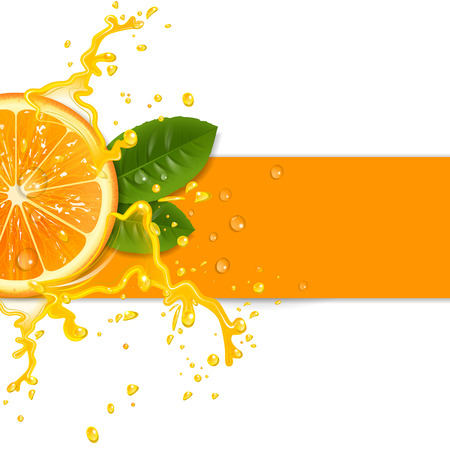 fresh orange background with splashes