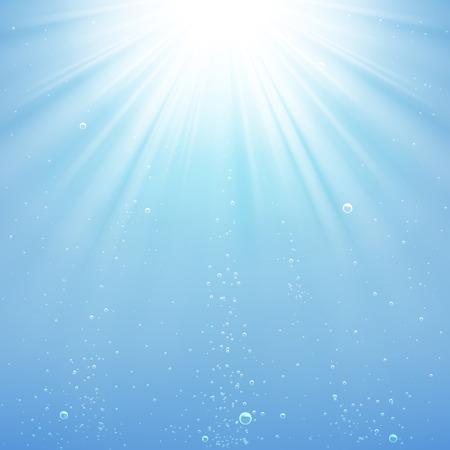 Illustration pour background rays of light under water - image libre de droit