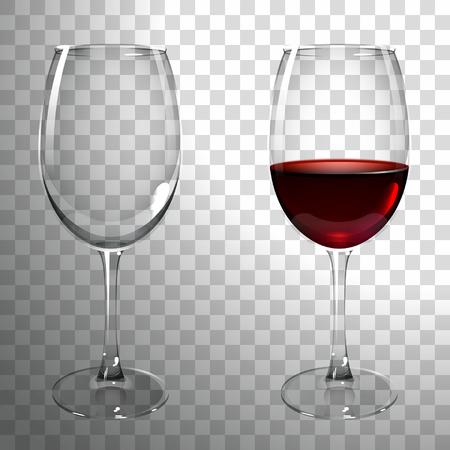 Illustration pour glass of red wine on a transparent background - image libre de droit