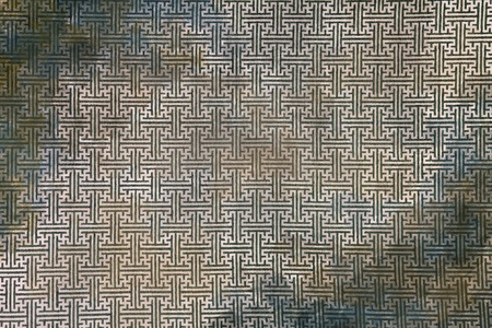 dirty grunge pattern of green maze clothing wall paper, close up