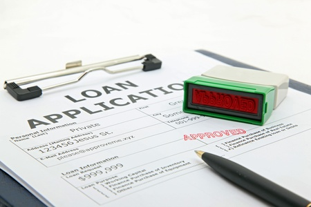 business concept the process of loan application contract approved