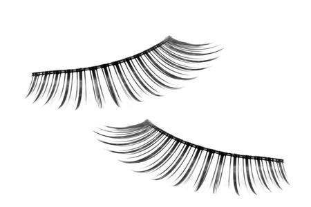 Photo pour pair of fake false eyelash isolated on white - image libre de droit