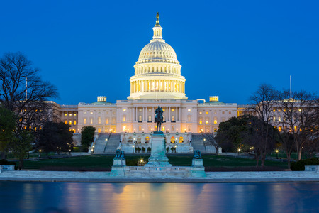 Photo for US Capitol Building at dusk, Washington DC, USA - Royalty Free Image