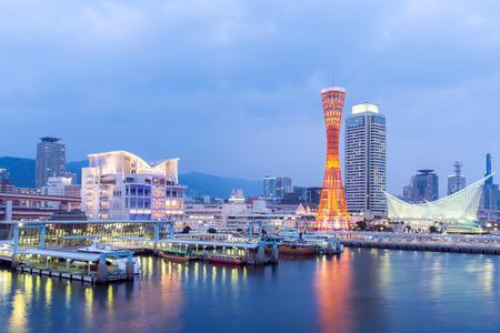 Photo for Skyline and Port of Kobe Tower Kansai, Japan - Royalty Free Image