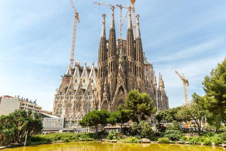 Sagrada Familia Church in Barcelona Spain