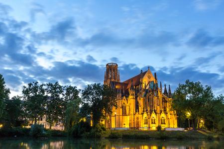 St John's Church sunset in Stuttgart, Germany