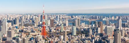 Foto de Tokyo Tower with skyline in Japan Panorama - Imagen libre de derechos