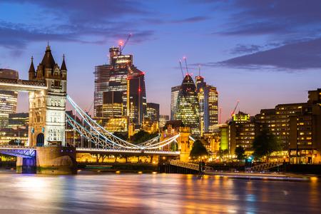 Foto für London Tower Bridge with London downtown skylines building in background, London UK. - Lizenzfreies Bild