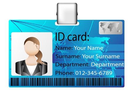 Illustration pour id card - image libre de droit