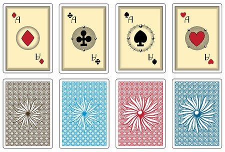 poker size cards with any suit aces