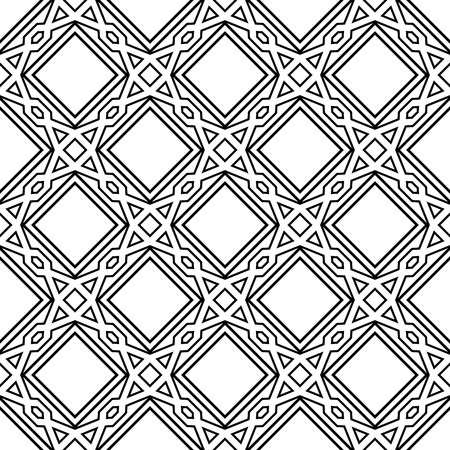 Celtic monochrome seamless pattern のイラスト素材