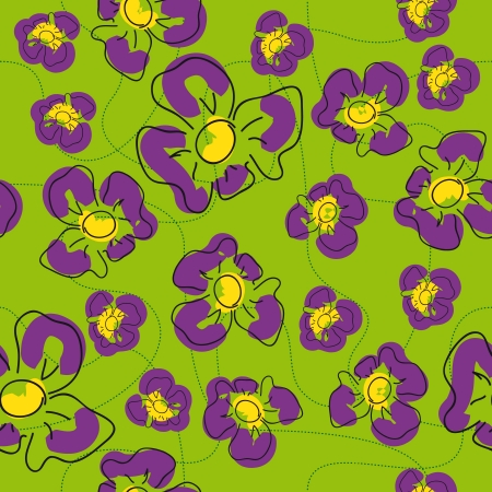 traditional handmade folk seamless floral background with irises for textile design,  and high quality print