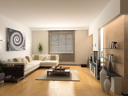 Photo for modern interior design (private apartment 3d rendering) - Royalty Free Image
