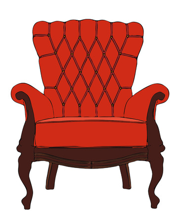 red vintage vector armchair