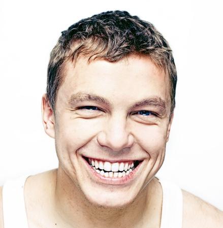 smiling young man portrait photo