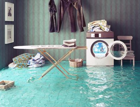 housework dreams. 3d Creative concept.