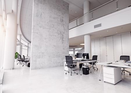 Photo pour modern office building interior. 3d rendering concept - image libre de droit