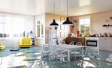 Foto de The modern home interior in country style. 3d rendering design concept - Imagen libre de derechos