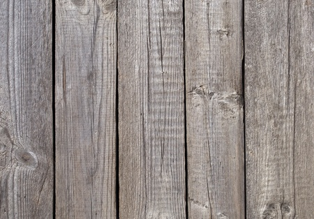 Fragment of old gray wooden boards background