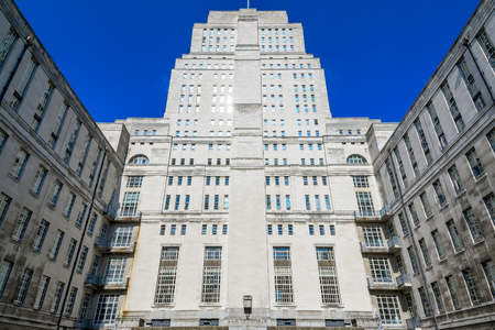 Exterior of the Senate House Library in London