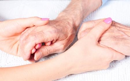 Photo pour care is at home of elderly - image libre de droit