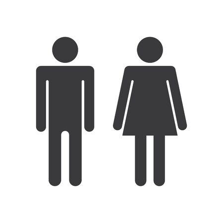 Ilustración de a man and a lady toilet sign - Imagen libre de derechos