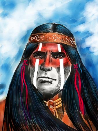 Photo pour Native american portrait - image libre de droit