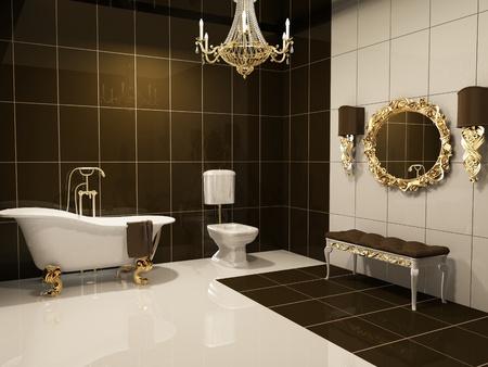 Photo pour Luxurious interior of bathroom - image libre de droit