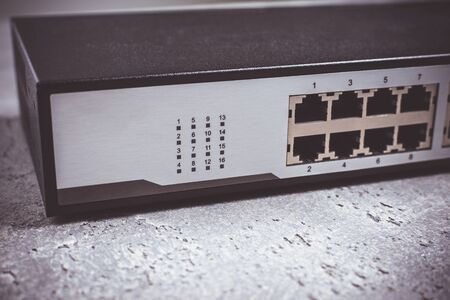 Fast Gigabit  Switch 16 Port on Dark Background