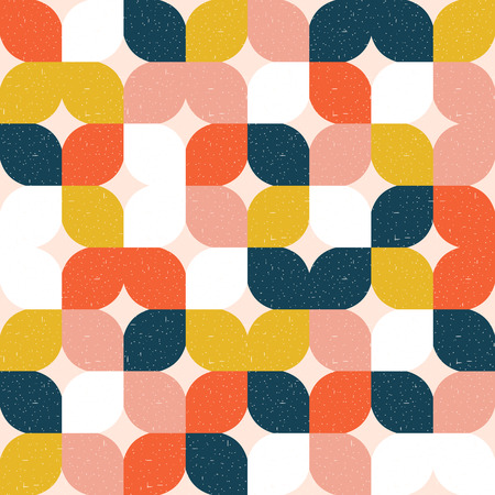Ilustración de Colorful geometric seamless pattern. Retro style. Vector background. - Imagen libre de derechos