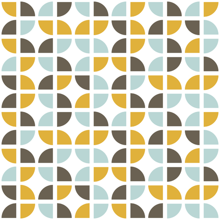 Ilustración de Retro seamless pattern. Mid-century modern style. Abstract repeating background for web or printing. Geometric vector wallpaper. - Imagen libre de derechos