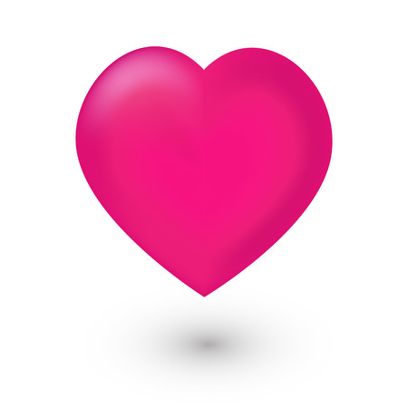 Illustration for Pink heart mesh icon on white background - Royalty Free Image