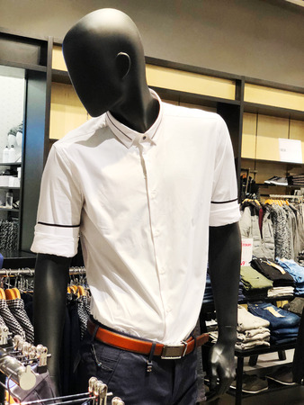 RISHON LE ZION, ISRAEL- DECEMBER 17, 2017: Inside the clothing store at Azrieli Department Store in Rishon Le Zion, Israel
