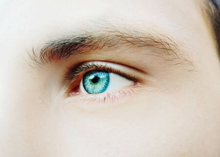 Photo pour A beautiful insightful look man's eye. Close up shot - image libre de droit