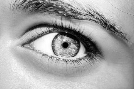 Photo pour A beautiful insightful look woman's eye. Close up shot - image libre de droit