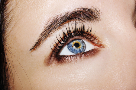 Photo pour A beautiful insightful look woman's eye. Close up shot. - image libre de droit