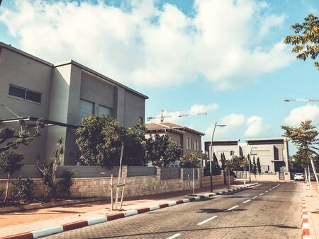 RISHON LE ZION, ISRAEL - JUNE 28, 2018: Houses in the center of Rishon Le Zion, Israel.