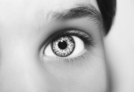 Photo for A beautiful insightful look eye. Close up shot. - Royalty Free Image