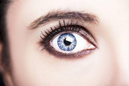 Photo pour A beautiful insightful look woman eye. Close up shot. - image libre de droit