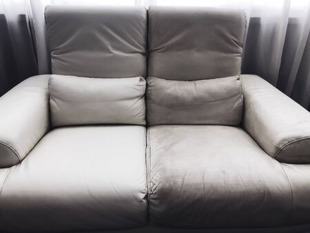 Photo pour leather clean and dirty sofa before and after - image libre de droit
