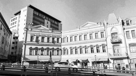 TBILISI, GEORGIA  DECEMBER 14, 2019:  Old Tbilisi architecture in Tbilisi, Georgia.