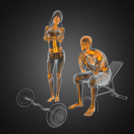 Photo pour Man in wheelchair made in 3D - image libre de droit